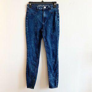 American Eagle Acid Wash Sky High Jeggings Jeans